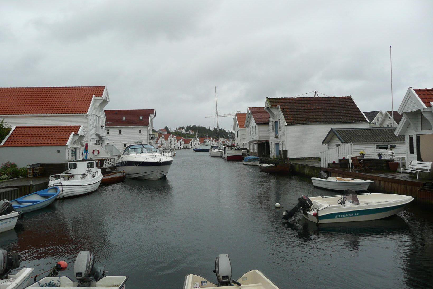 Skudeneshavn á Karmøy úti fyrir bænum Haugesund í Rogaland við …