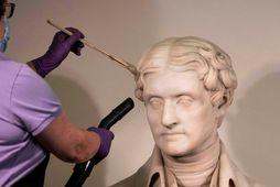 Stytta af Thomas Jefferson sem er staðsett í höfuðborg Bandaríkjanna Washington.