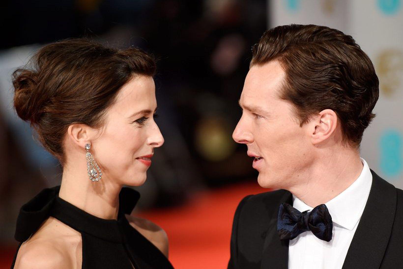 Hjónin Sophie Hunter og Benedict Cumberbatch giftu sig á Valentínusardag.