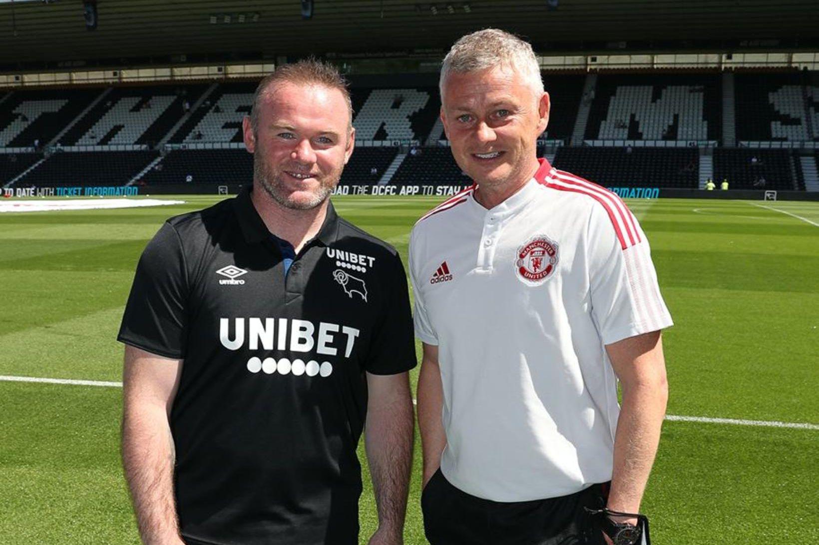 Wayne Rooney og Ole Gunnar Solskjær voru liðsfélagar hjá Manchester …