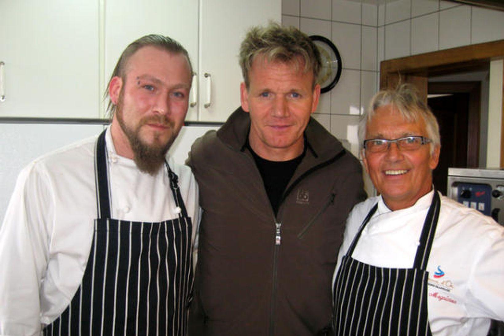 Guðjón Albertsson, Gordon Ramsay og Jakob Magnússon