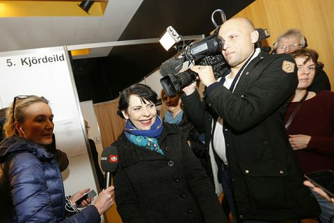International media are focusing their attention on Iceland's Pirate Party today. Here they are following Birgitta Jónsdótir this morning.