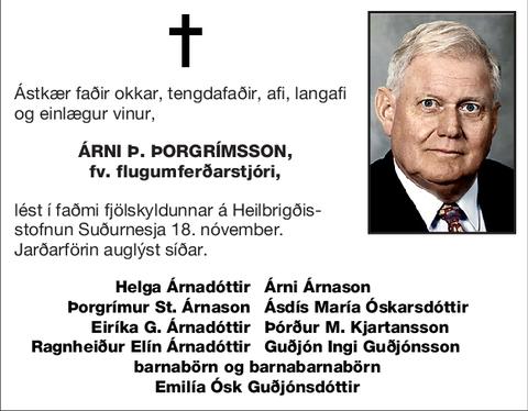 Árni Þ. Þorgrímsson,