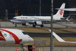 Flugvél Air China af gerðinni Boeing 737 MAX 8.
