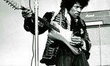 Jimi Hendrix á tónleikum í Stokkhólmi árið 1967.