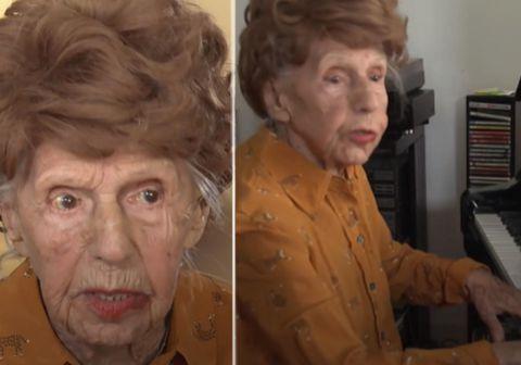 Colette Maze er 107 ára gömul kona frá Frakklandi sem hefur spilað á píanó frá því hún var fimm ára gömul, eða í um 102 ár.