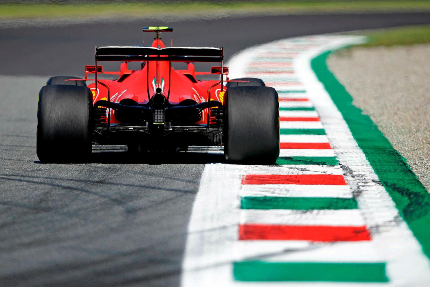 Ferrari er talsvert á eftir toppliðunum en það keppir á …