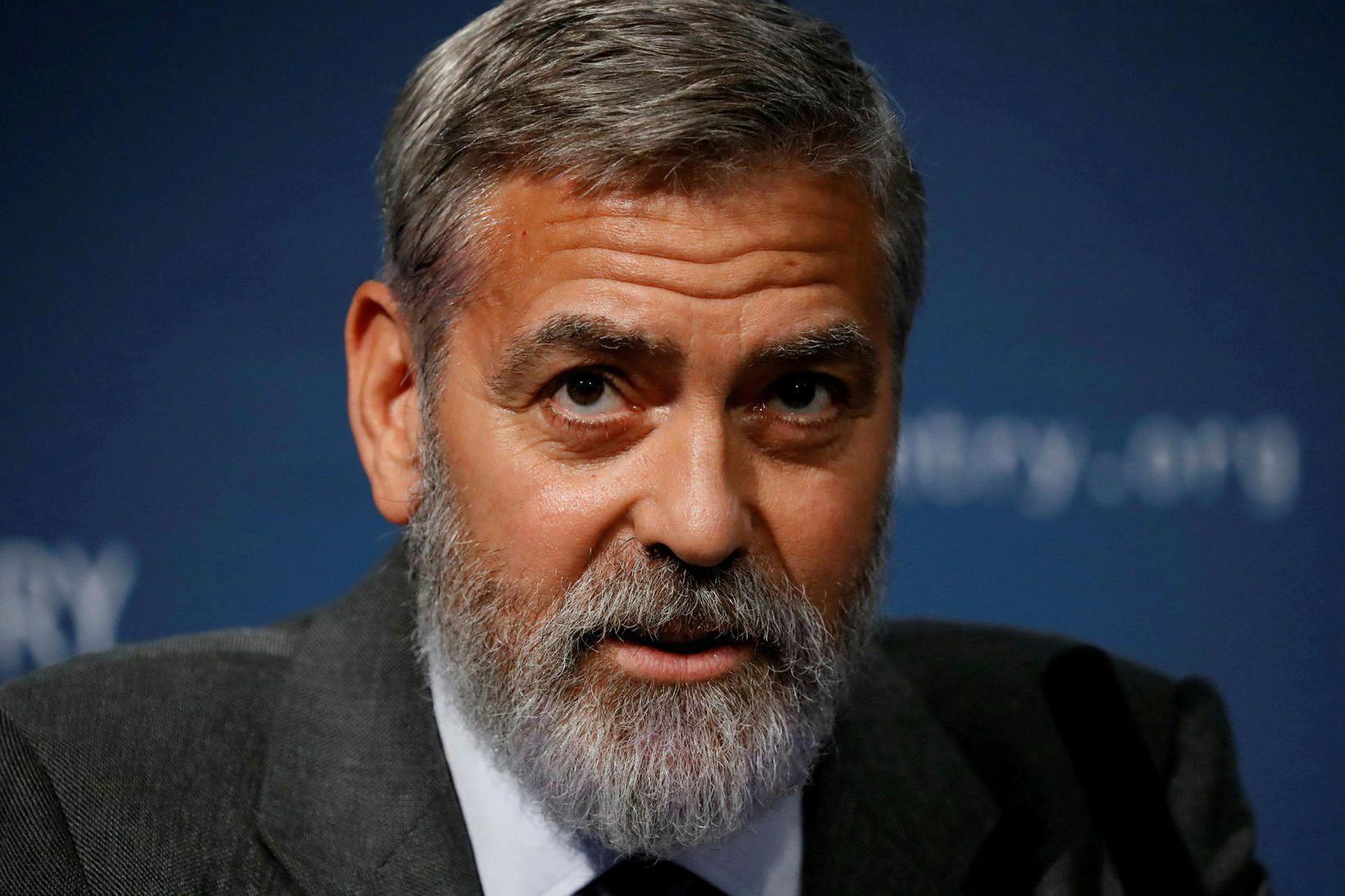 George Clooney er 60 ára í dag.