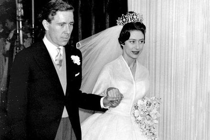 Margrét og Antony Armstrong-Jones á brúðkaupsdaginn árið 1960.