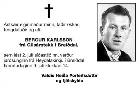 Bergur Karlsson