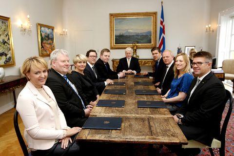 Frá fundi ríkisráðs með forseta Íslands á Bessastöðum sl. mánudag.
