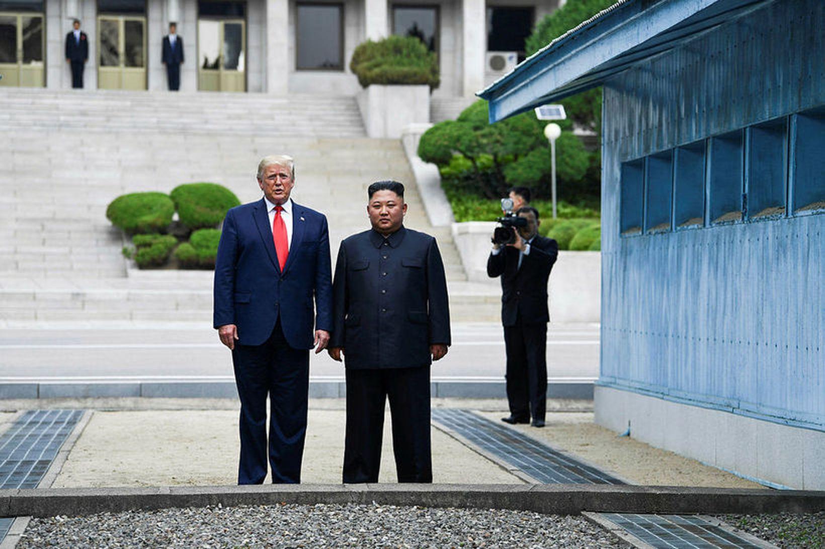 Donald Trump forseti Bandaríkjanna og Kim Jung-un leiðtogi Norður-Kóreu.