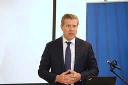 Bjarni Benediktsson fjármálaráðherra á blaðamannafundi um nýja útgáfu af aðgerðaáætlun í loftlagsmálum.