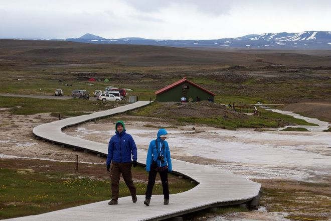 Hveravellir is an area renowned for its natural hot springs.