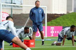 Leikmenn Bayern München mættu til starfa á nýjan leik í morgun.