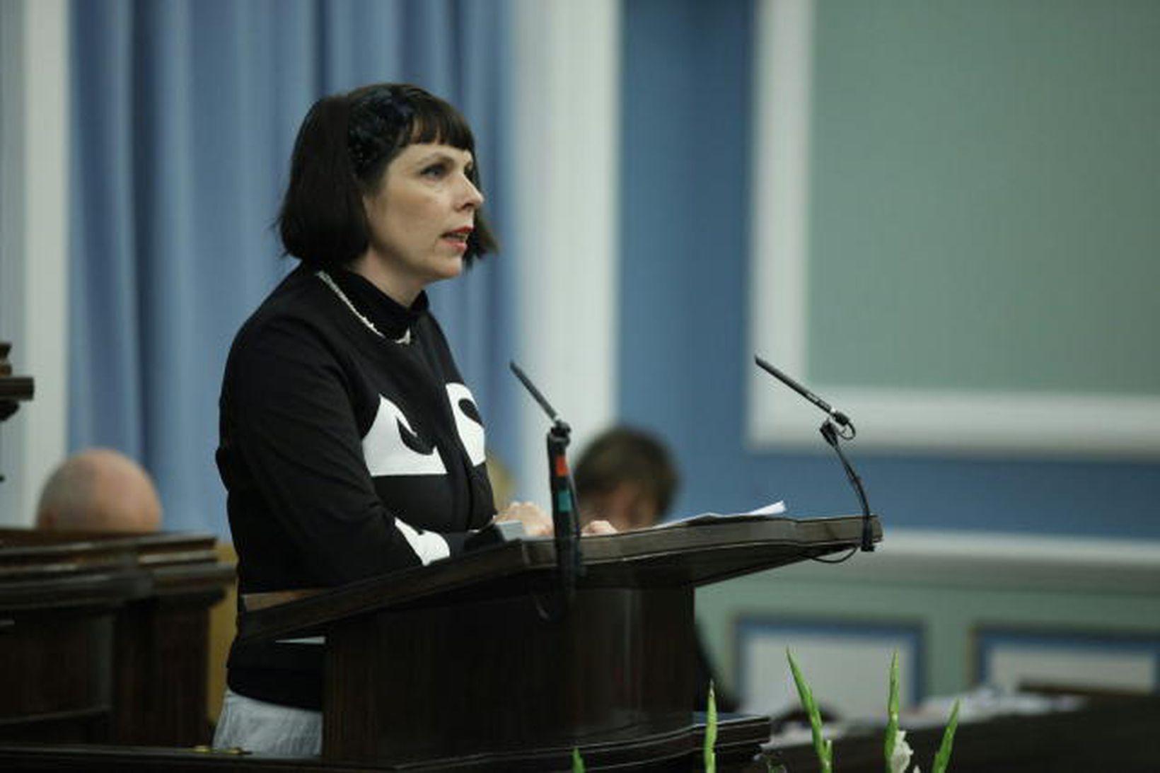 Birgitta Jónsdóttir, þingmaður Hreyfingarinnar.