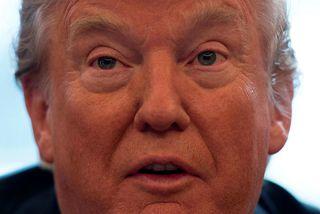 """Donald Trump Bandaríkjaforseti. Ákvörðunin um innflutningsgjöldin er í anda viðskiptastefnu Donald Trump Bandaríkjaforseta, """"Bandaríkin fyrst"""" ..."""