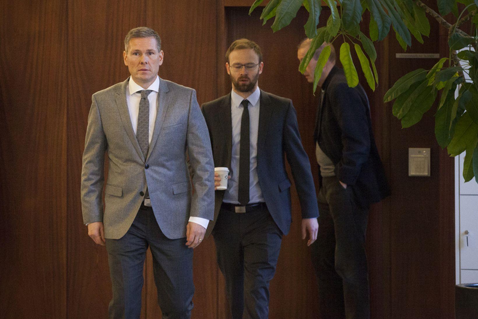 Hannes Smárason í Héraðsdómi Reykjavíkur,
