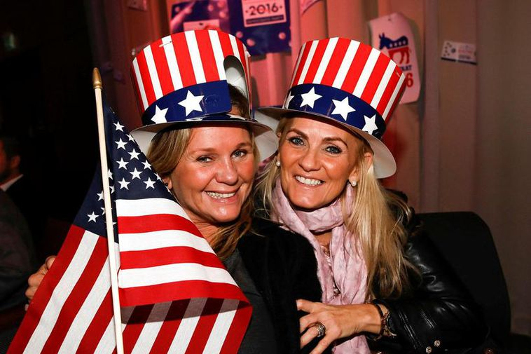 US election night celebrated in Iceland last night.