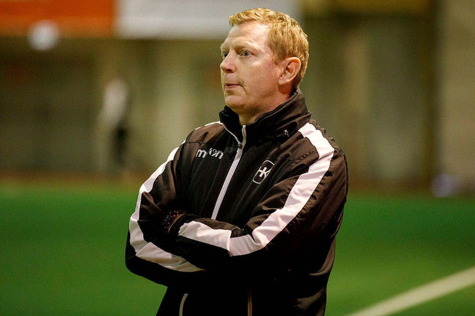 Brynjar Björn Gunnarsson, þjálfari HK, var að vonum sáttur með …