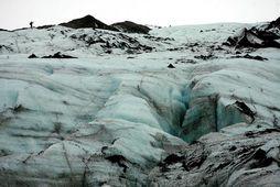 Sólheimajökull, vegurinn upp að jöklinum hefur verið opnaður á ný.