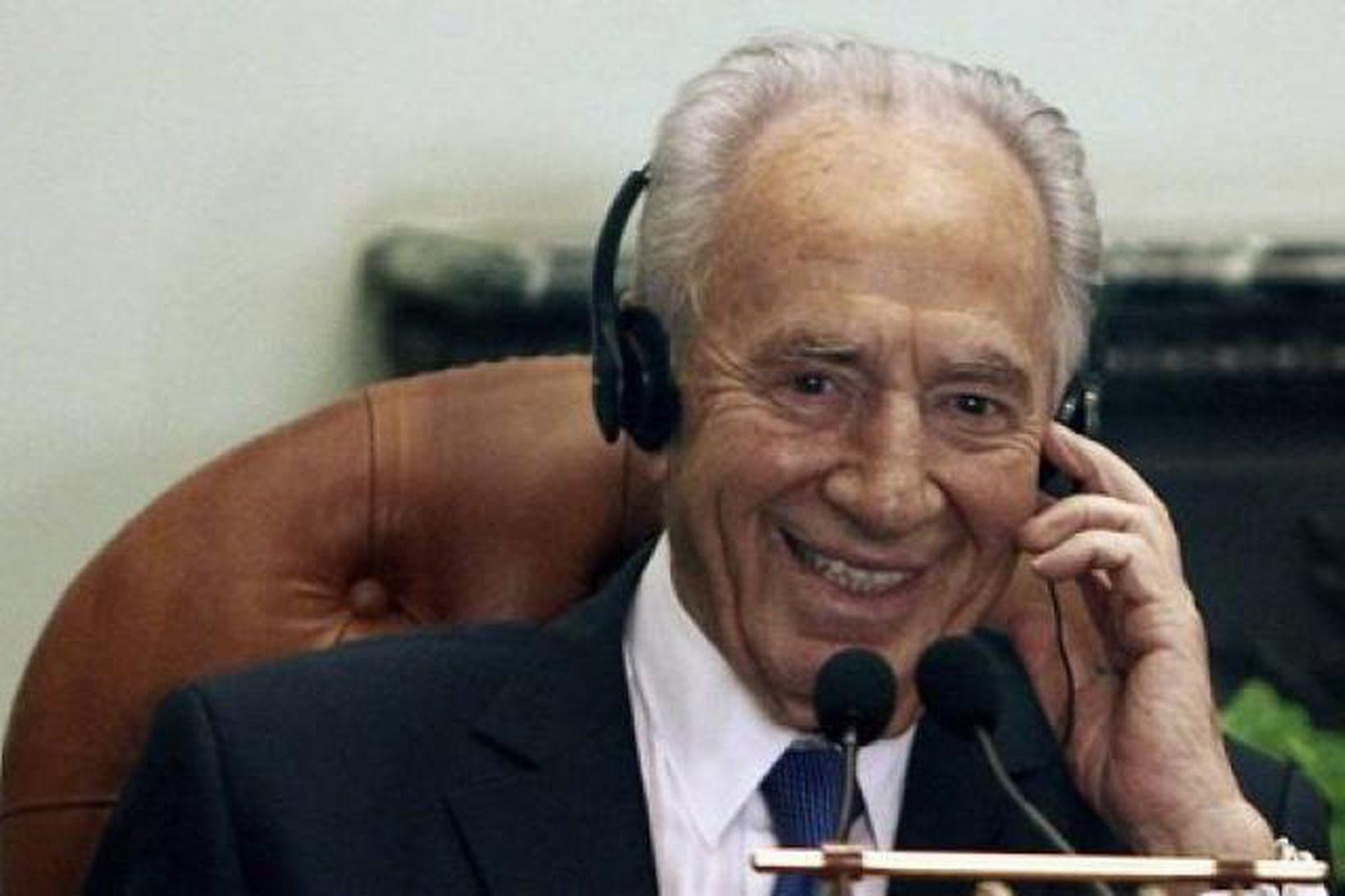 Shimon Peres, forseti Ísraels.