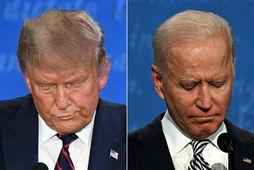 Donald Trump Bandaríkjaforseti og Joe Biden forsetaefni demókrata.