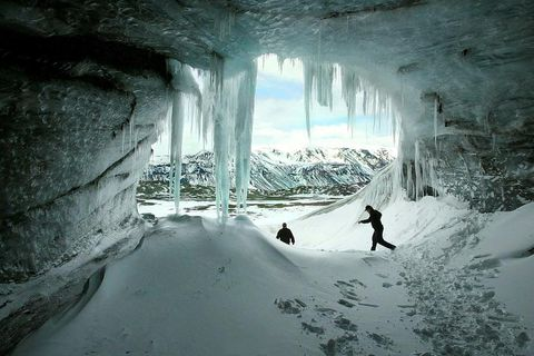 Ice cave in Langjökull glacier. The picture was taken in 2004.