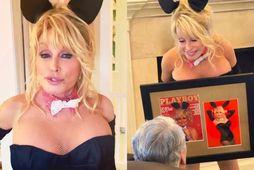 Dolly Parton kom eiginmanni sínum á óvart með myndatöku.