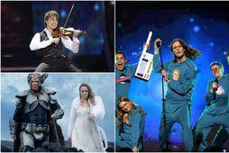 Ný útgáfa þekktra eurovisionstjarna á smellinum Volcano man úr eurovisionmynd Will Ferrels hefur slegið í …