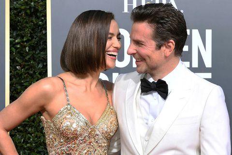 Fyrirsætan Irina Shayk og leikarinn Bradley Cooper árið 2019.