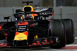 Daniel Ricciardo í Abu Dhabi, síðasta kappakstrinum með Red Bull.
