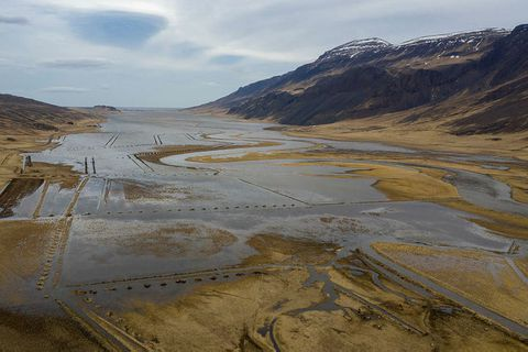 Road 722, Northwest Iceland, now closed, also flooded in April.