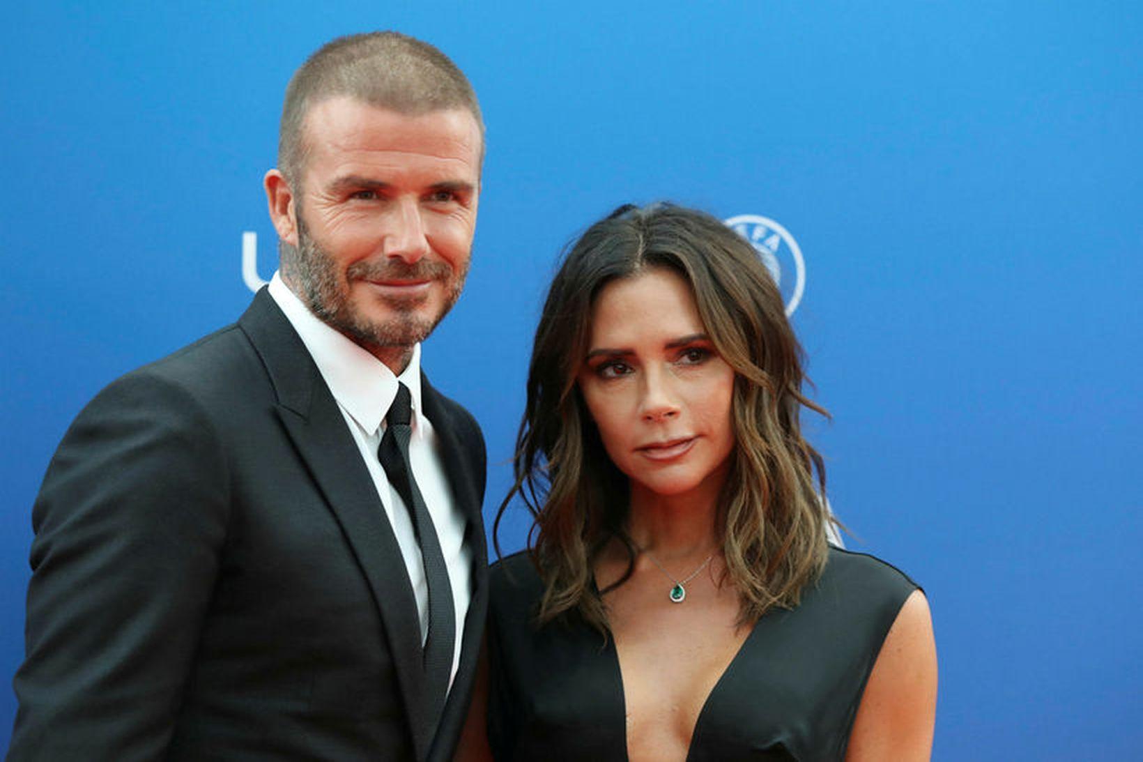 David og Victoria Beckham fóru til Ítalíu á dögunum.