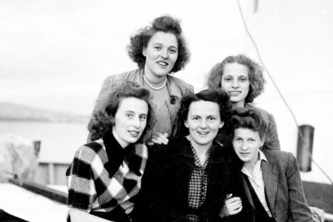 German women, just arrived in Iceland, June 8, 1949.
