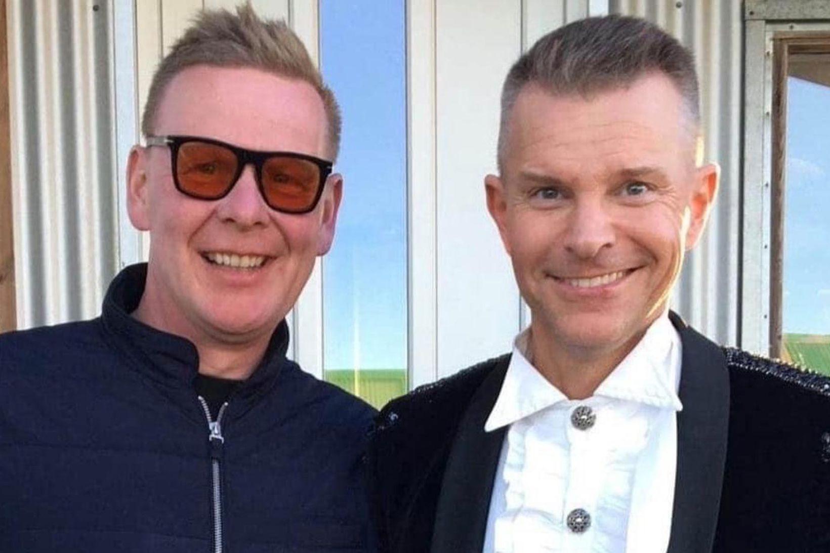 Kristján Baldursson eigandi Trausta ásamt Páli Óskari.