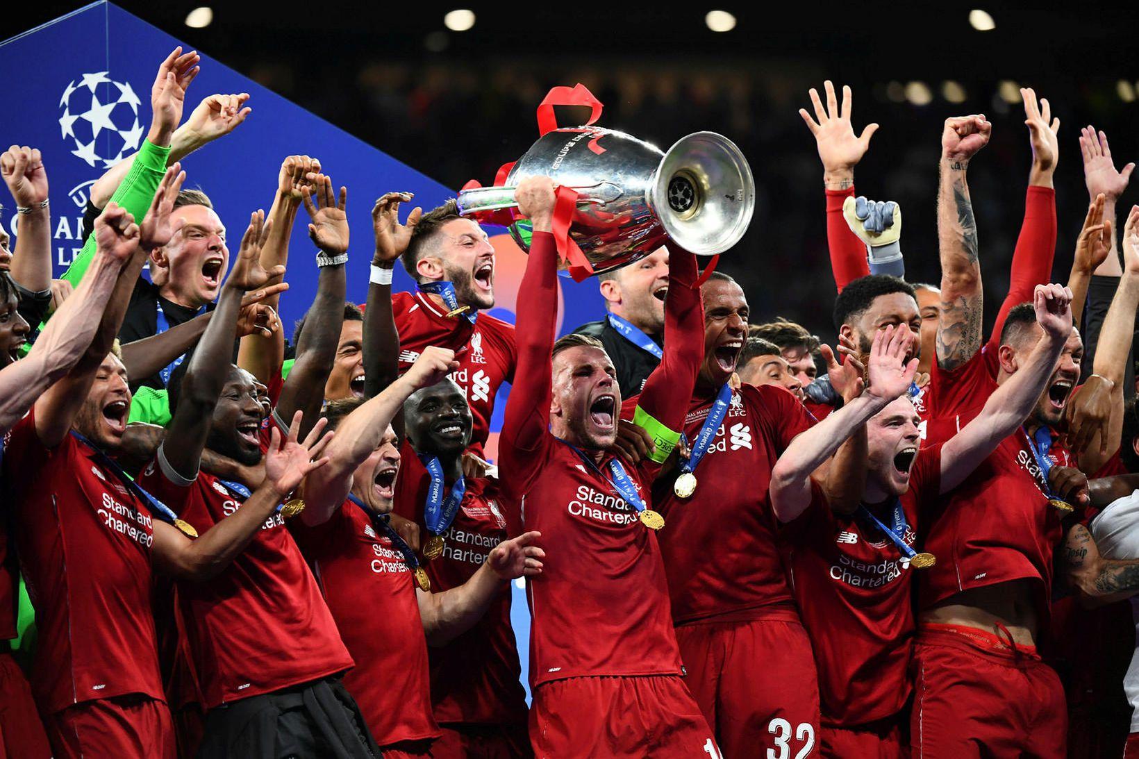 Englandsmeistarar Liverpool fögnuðu sigri í Meistaradeildinni árið 2019.