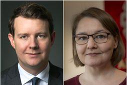 Halldór Benjamín Þorbergsson og Drífa Snædal.