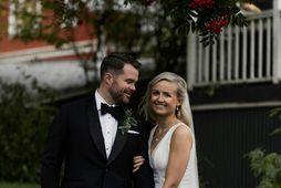 Arnar Haraldsson og Anna Lilja Sigurðardóttir giftu sig þann 26. september í fyrra.