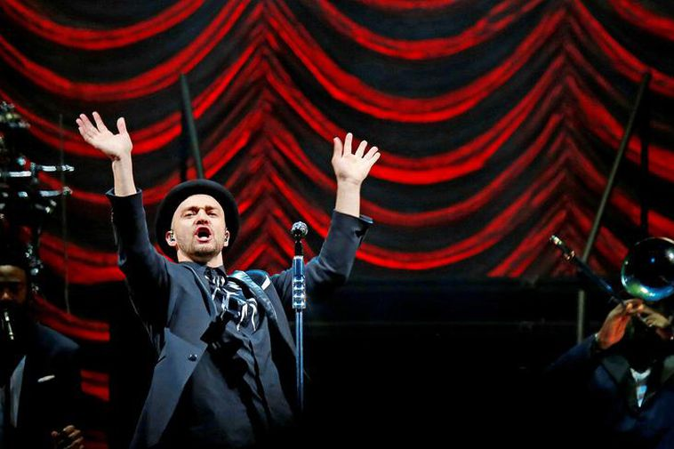 Justin Timberlake performed in Iceland n 2014.