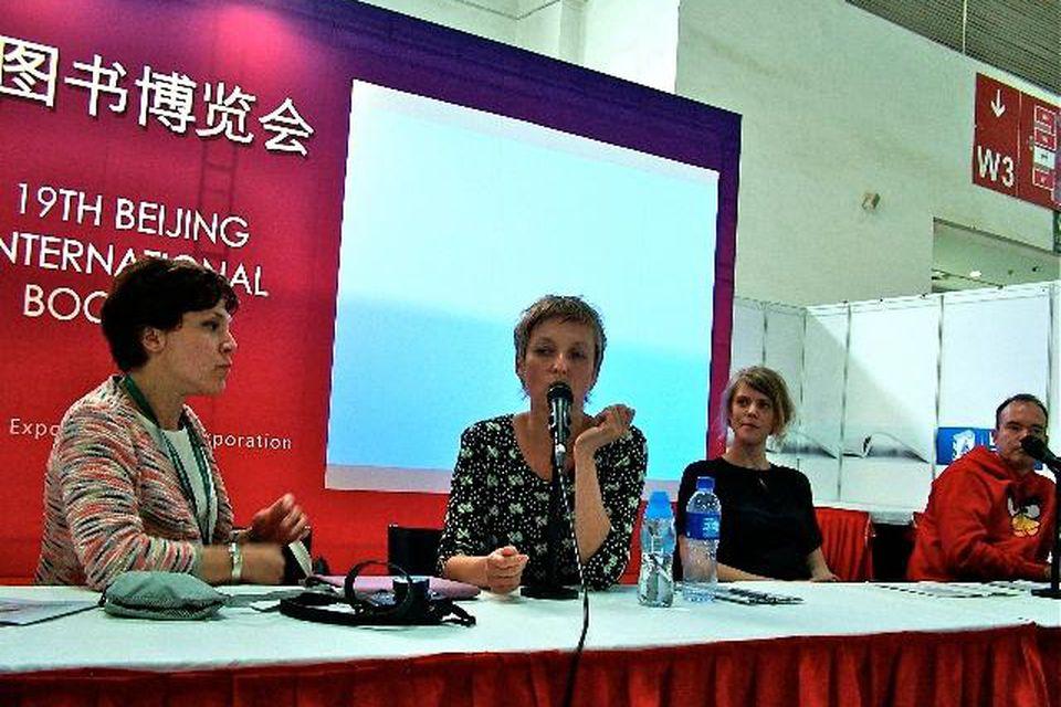 Áslaug Jónsdóttir á bókamessunni í Peking