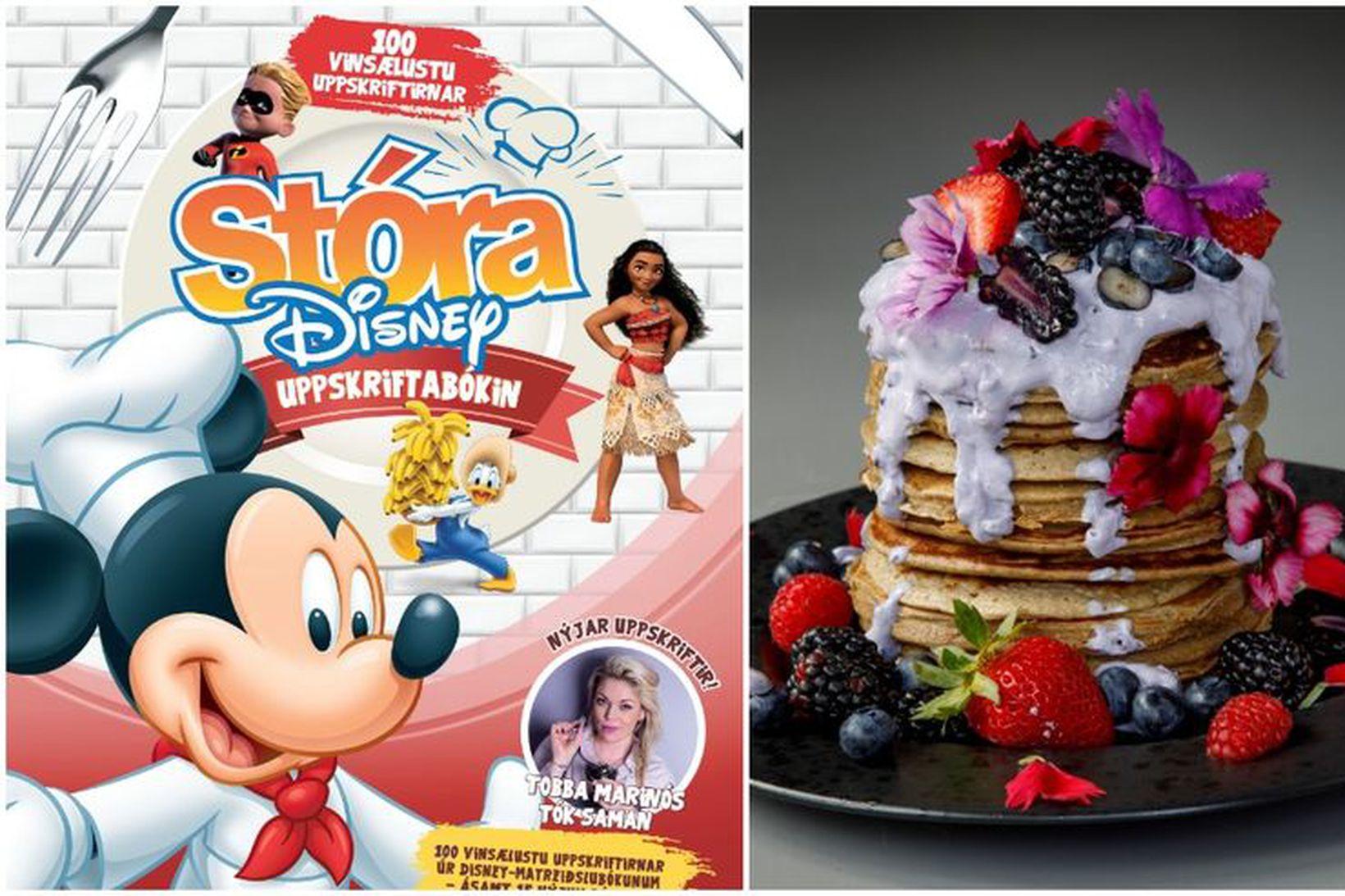 Stóra Disney-uppskriftabókin hefur slegið í gegn enda eiga Mikki og …
