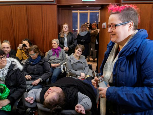 Bára Halldórsdóttir received support from a lot of people when she had to make a court appearance last month.