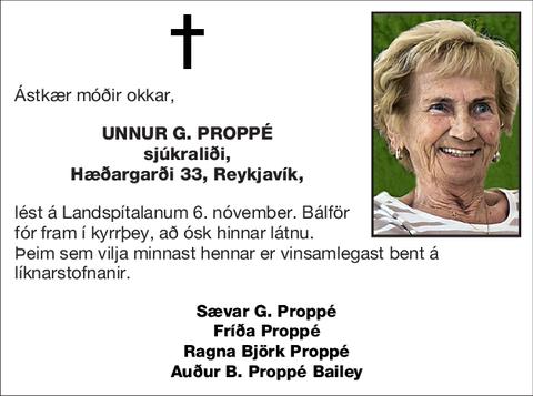 Unnur G. Proppé