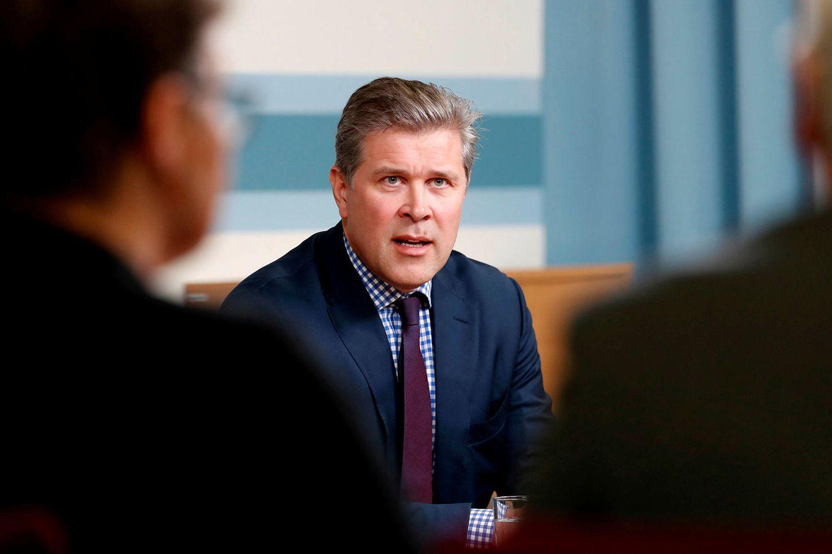 Bjarni Benediktsson fjármálaráðherra og formaður Sjálfstæðisflokksins.