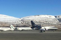 Á Akureyrarflugvelli.