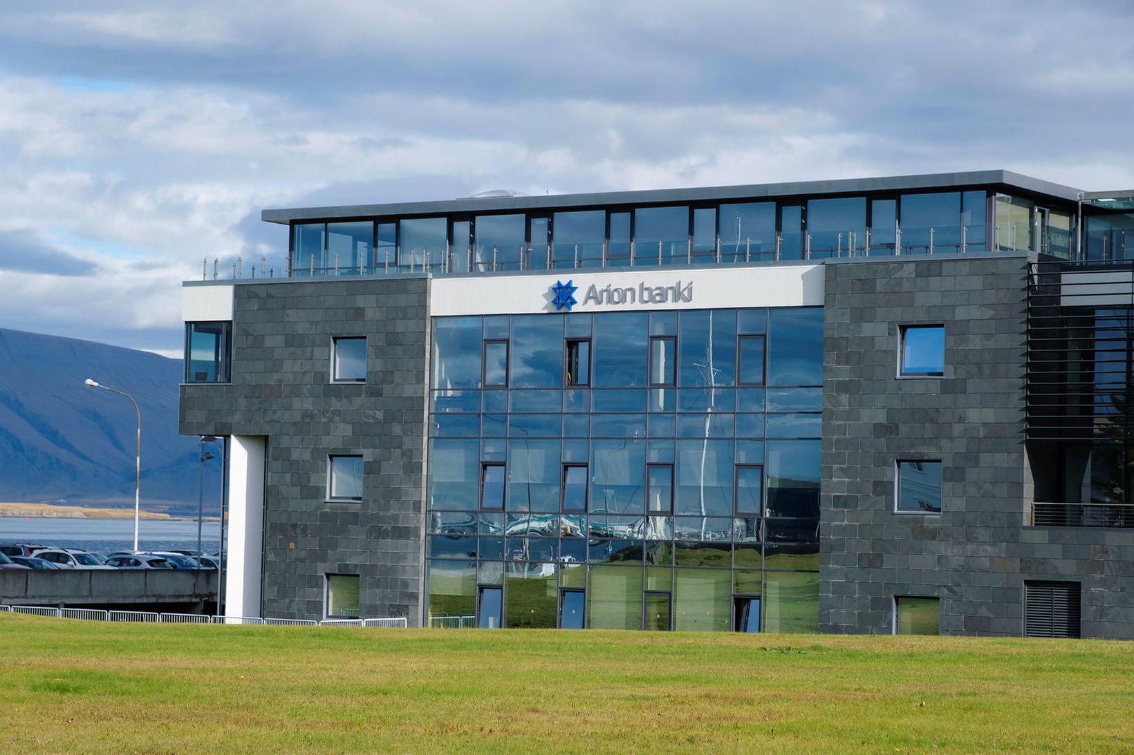Höfuðstöðvar Arion banka í Borgartúni. Bankinn hagnaðist um 1,1 milljarð …