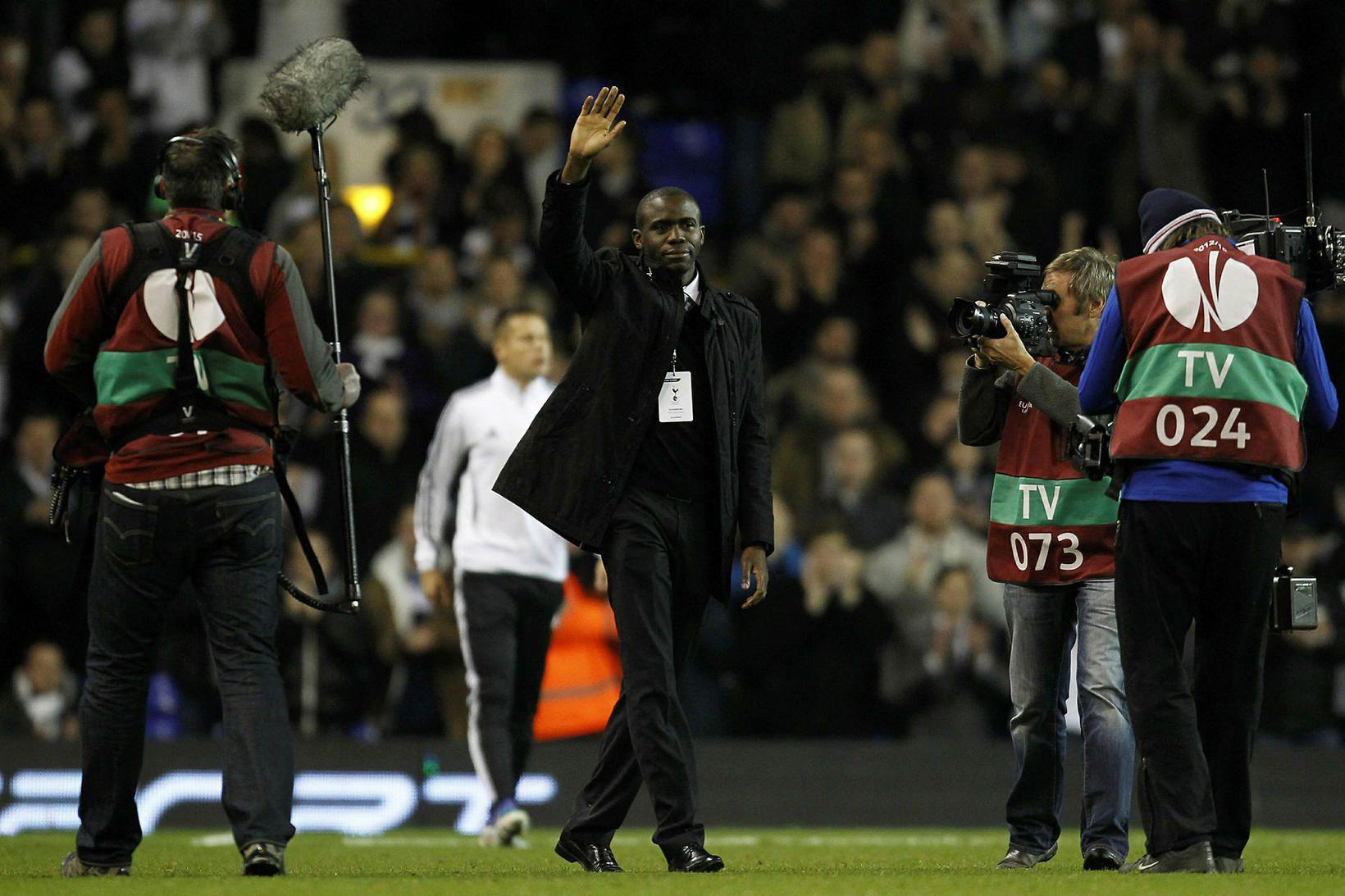 Frískur Fabrice Muamba heimsækir White Hart Lane í Lundúnum nokkrum …