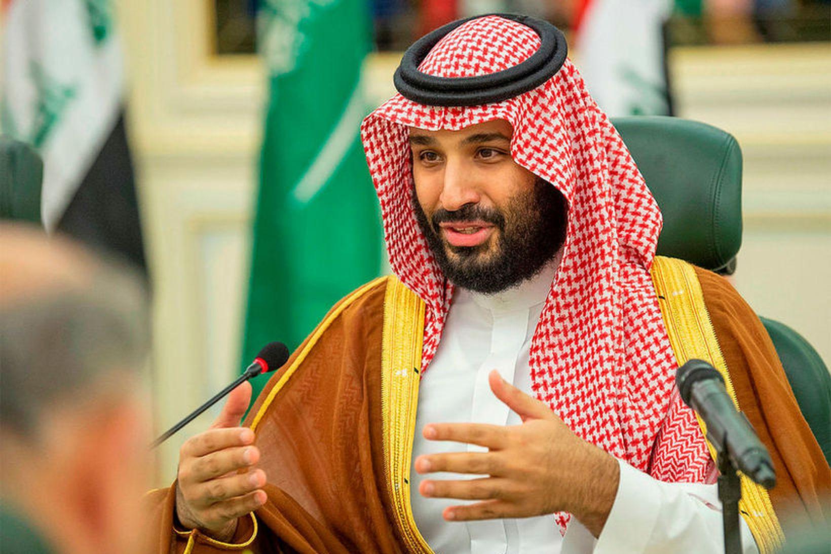 Mohammed bin Salman krónprins Sádi-Arabíu. Ríkið sætir í dag harðri …
