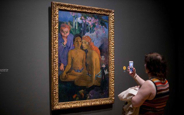 """""""Villimannasögur"""" kallaði Gauguin þetta verk sem nú er sýnt í National Gallery í London. Hann ..."""